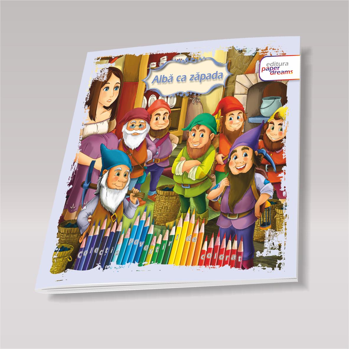 Carte De Colorat Si Povesti Alba Ca Zapada